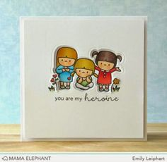 mama elephant | design blog: In My Heart with Emily - What a clever way to use dies and matching images...LL