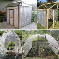 comment fabriquer serre pour jardin avec bouteille recyclée Plus Plus