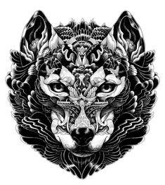 ornate-fox-ornate-zentangle-art-animals - Google Search