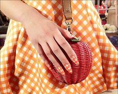 Kate spade orange white squares nail design creativebeautyhealth.com