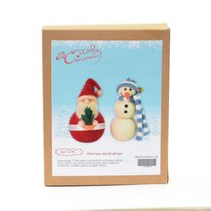 Christmas Novelty DIY Craft Kit Create a wool snowman and Santa. Have fun creating Christmas decorations to hang around your home or to give as a special handmade gift. Craft Kits, Diy Kits, Craft Projects, Fun Crafts, Crafts For Kids, Christmas Crafts, Christmas Decorations, Xmas Gifts, Homemade Gifts