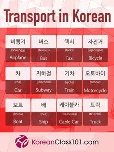 Transport in Korean ✈