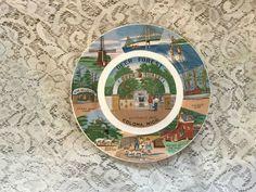 Vintage Deer Park Coloma, Michigan Souvenir Plate