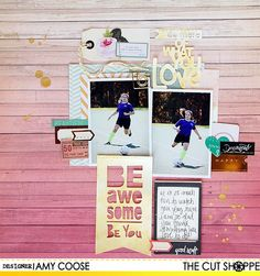 """The Cut Shoppe: Layout by Kat uses """"Words to Live By"""" cut file."""
