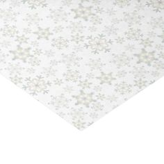Soft Green & Copper Snowflakes 2 - Tissue Paper