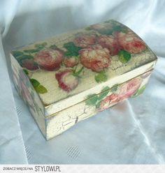 Szkatułka decoupage Róże (#443) - Art Kufer - decoupage…