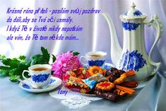 Good Morning, Tableware, German, Anna, Night, Dios, Buen Dia, Deutsch, Dinnerware