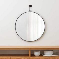 Odin Iron Large Pendant Mirror + Reviews | Crate and Barrel Over The Door Mirror, Mirror Door, Floor Mirror, Floor Lamps, Crate And Barrel, Large White Vase, Entryway Cabinet, Travertine Coffee Table, White Sheer Curtains