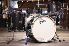 Personalized Service from Drummers who care. Buy the Gretsch Brooklyn 4pc Downbeat Drum Set Satin Black Metallic at Drum Center of Portsmouth and browse thousands of unique percussion products tailored for the serious and beginning drummer.