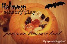 DIY Pumkin Crafts : DIY Halloween Sensory Play--Pumpkin Treasure Hunt