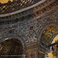 Ornaments in Hagia Sophia (Ayasofya), Istanbul, Turkey