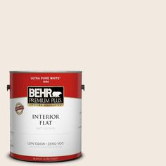 BEHR Premium Plus 1 gal. #12 Swiss Coffee Interior Paint-305001 - The Home Depot