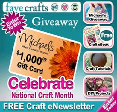 Enter to Win a $1000 Michaels Gift Card Giveaway   Ends 3.31.13 Make sure to check out all the great giveaways that we promote on www.OnlyGiveaways.com