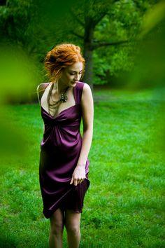 beautiful bridesmaid dresses from Etsy bridal party attire deep maroon