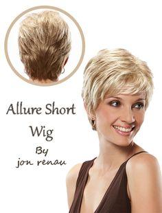 Allure Short Wig by Jon Renau Cap Size: Average Weight: 68 grams Price: 199.95$ http://www.hairandbeautycanada.ca/allure-large/ Color shown in the image #shorthairwigs   #onlineshortwigs   #shortwigscanada