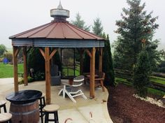 47 Impressive Gazebo Design Ideas For Your Backyard - Gazebos are freestanding structures found in most homes that are used as garden ornaments or for temporary shelter. They are characteristically roofed. White Pergola, Deck With Pergola, Outdoor Pergola, Pergola Plans, Pergola Kits, Pergola Ideas, Small Pergola, Cheap Pergola, Patio Ideas