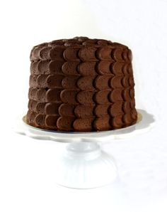 Chokladtårta enkel att dekorera
