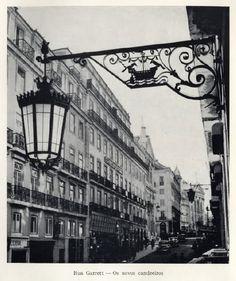 Lisboa, um olhar para o passado: Candeeiros e postes antigos de Lisboa.