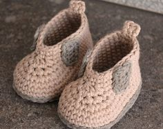 "Crochet Pattern for Baby Boys Crochet Boots, Steelcap ""Rytar Boot"", workboot, crochet boots, pattern for crochet booty PATTERN ONLY"