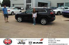 #HappyAnniversary to Kristen Sefcik on your 2014 #Jeep #Cherokee from Gabe Maldonado at Holt Chrysler Jeep Dodge!