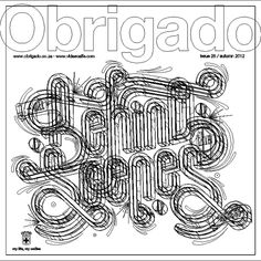 Obrigado Magazine Cover by Ben Johnston, via Behance Behance, Cover, Typography, Magazine, Inspiration, Design, Thanks, Life, Letterpresses