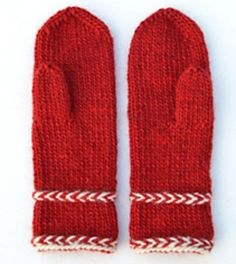 Ravelry: Annsofie's red mittens pattern by Annsofie Pettersson Knitted Mittens Pattern, Knit Mittens, Knitted Gloves, Knitting Socks, Knitting Patterns Free, Free Knitting, Crochet Patterns, Free Pattern, Yarn Projects