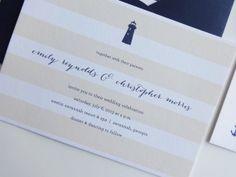 Portside Nautical Wedding Invitations / by avisualconcept on Etsy, $50.00