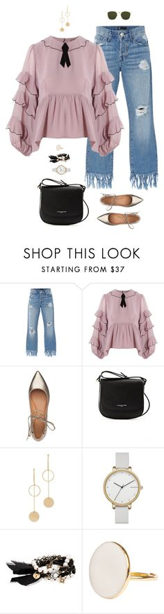 """""""I didn't nap"""" by xoxomuty ❤ liked on Polyvore featuring 3x1, For Love & Lemons, Sigerson Morrison, Lancaster, Cloverpost, Skagen, Chloe + Isabel, Linda Farrow and polyvoreOOTD"""