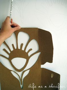 Life as a Thrifter: #DIY #Stencil with cardboard = genius.