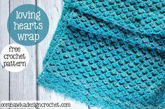 Loving Hearts Wrap | AllFreeCrochet.com