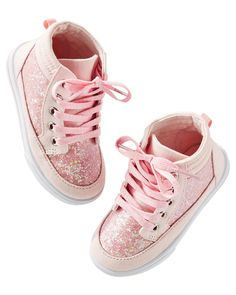 Toddler Girl OshKosh Sparkle High Tops from OshKosh B gosh. Shop clothing    accessories from a trusted name in kids 582bbad88d1e