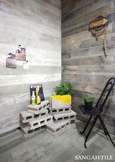 tile-Sangah's - IN-ESSENCE Collection #tile #tiles #Sangahtile #interior #design #interiordesign #floor #wall #natural #modern #vintage#타일 #인테리어 #디자인 #빈티지 #타일  콘크리트와 나무질감이 결합된  빈티지한 타일입니다~ 노란색 벽돌이 포인트로 너무 잘어울리지 않나요?^^