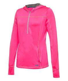 Look at this #zulilyfind! Pink Zipper Pullover Hoodie #zulilyfinds