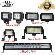 LED Work Light 18W 54W 72W 108W 270W LED Car Boat Offroad Lamp SUV/ATV 12V 24V