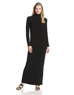 KAMALIKULTURE Womens Go Turtleneck Maxi Black Small >>> Check this awesome product by going to the link at the image.