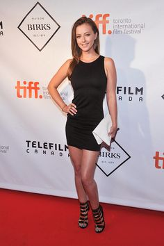 Katharine Isabelle, looking stunning as always in a LBD.