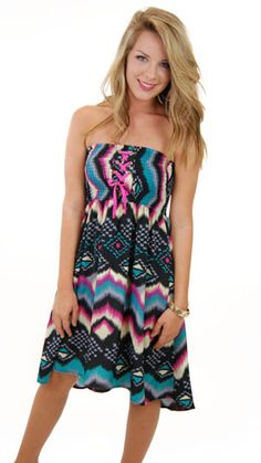 Finally, a summer dress that is NOT too short!  Available today at www.shopbluedoor.com!