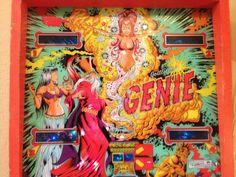Een woord: GENIE  Vintage pinball machine, Oakland, CA.