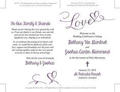 Catholic Wedding Program Template Printable by PaintTheDayDesigns