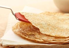 """This basic recipe makes a tasty wrap for any type of filling. In this method, we fold the crepe into a square leaving a little """"window"""" in the middle to show..."""
