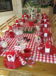 . one of my favorites party decor and the party on to the indoor picnic