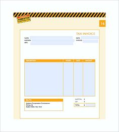 Blank Self Employed Invoice Templates Work Invoice Template - Self employment invoice template