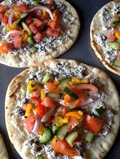 Greek Veggie Pita Quesadillas #summer #healthy