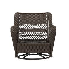 Garden Treasures Glenlee Brown Steel Patio Conversation Chair