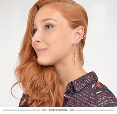 Brinco ear cuff com franjas  #moda #look #acessórios #brinco #bijoux #earcuff #franjas #estilo #tendência #detalhe #shop #lojaonline #ecommerce #lnl #looknowlook