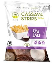 Artisan Tropic Cassava Strips with Sea Salt - Your Tasty and Healthy Snack Alternative - Paleo, Gluten Free, Vegan, Non-GMO - Made With Sustainable Palm Oil Oz Pack) Gluten Free Chips, Gluten Free Snacks, Vegan Gluten Free, Protein Snacks, Healthy Snacks, Healthy Recipes, Paleo On The Go, Sweet Potato Chips, Baked Chips