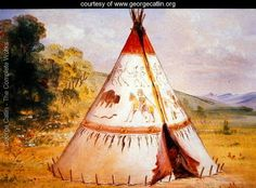 Teepee of the Crow Tribe, c.1850 - George Catlin - www.georgecatlin.org