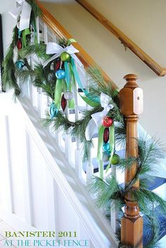 40+ Festive Christmas Banister Decorations Ideas All About Christmas