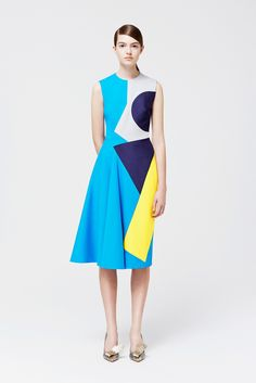 Roksanda Resort 2015 Fashion Show - Scarlett Grey