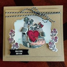 I made this card with the Bear Hugs stamp set & coordinating framelits from Stampin Up.  Details can be found on my blog